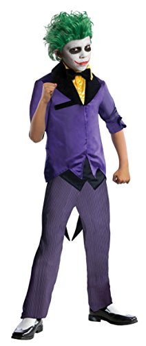 Bad Guy Superhero Costumes (Rubies DC Super Villains The Joker Costume, Child Large)