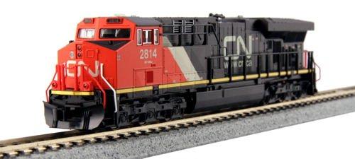- GE ES44AC GEVO - Standard DC -- Canadian National #2825 (black, red, white)