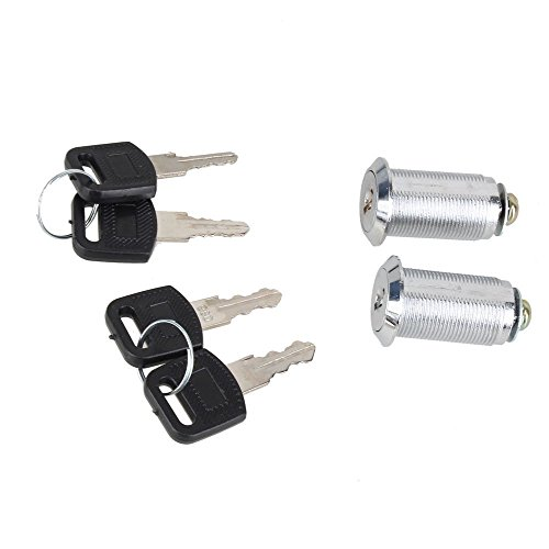 Locker, Ideaker Aluminium Alloy 30mm Cam Lock with Keys For Filing Cabinet Mailbox Drawer Cupboard Camlock Drawer Pack Of 2