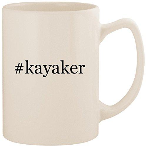 #kayaker - White Hashtag 14oz Ceramic Statesman Coffee Mug Cup