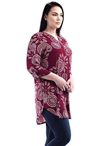 84451be4926 Betsy Red Couture Women s Plus Size Dress Shirt Tunic