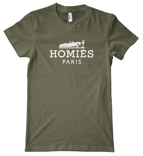 Faux Design - Homies Paris White American Apparel T-Shirt, Lieutenant, Medium