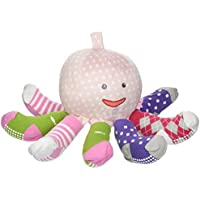 Baby Aspen, Mrs. Sock T. Pus Plush Octopus with 4 Pairs of Socks, Pink, 0-6...