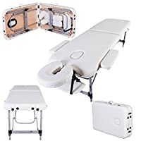 Massage Imperial® - Tragbare Massageliege Knightsbridge - Aluminium 10 kg - 5 cm Schaumstoff Mit Hoher Dichte - Elfenbein weiß