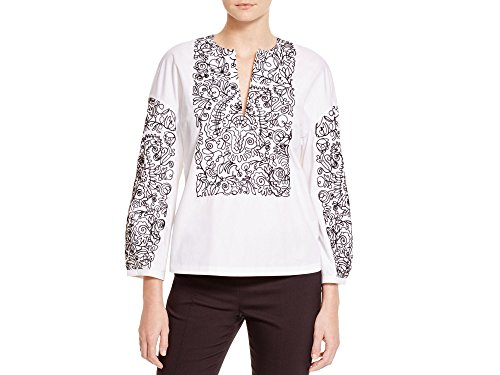 - Tory Burch Women's White Embroidered Doodle Cotton Tunic 10