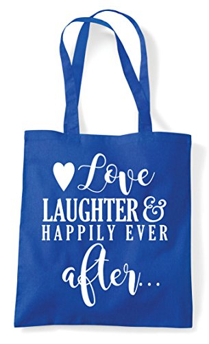 After Tote And Statement Happily Bag Wedding Love Ever Blue Laughter Royal Shopper q0WI11wZ