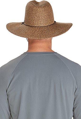 Coolibar UPF 50+ Men's Beach Comber Sun Hat (Small/Medium - Brown/Natural)