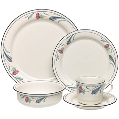 Click for Lenox Poppies on Blue 5-Piece Chinastone Place Setting, Service for 1