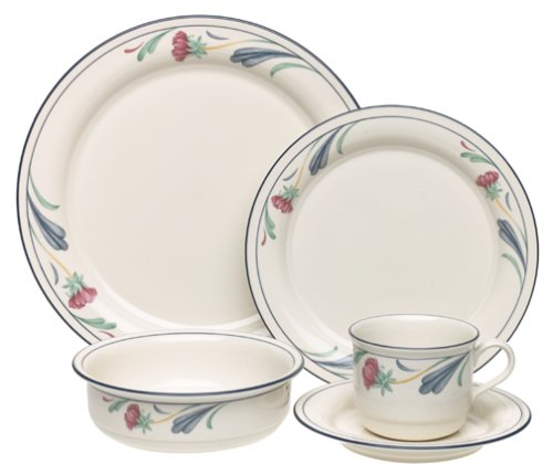 Lenox Poppies (Lenox Poppies on Blue 5-Piece Chinastone Place Setting, Service for 1)