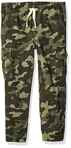 Amazon Essentials Little Boys' Cargo Pants, Camo Olive, Small