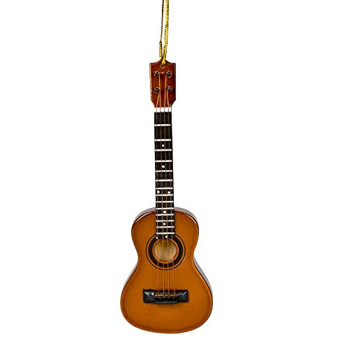 Ukulele Music Instrument Replica Christmas Ornament, Size 5 inch