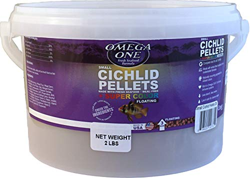 Omega One Small Floating Cichlid Pellets Fish Food 2-Lbs. ()