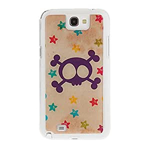 HP DFLovely Skull Drawing Pattern Neutral Stiffiness Silicone Gel Back Case Cover for Samsung Galaxy Note2 N7100