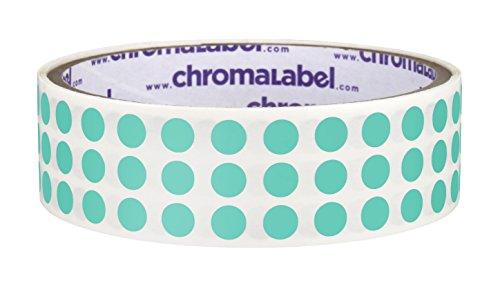 Aqua Stickers - 1/4 inch Color-Code Dot Labels | 1,000/Roll (Aqua)