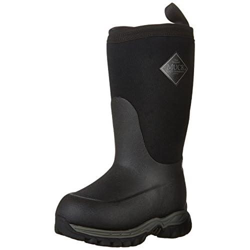 Neoprene Rubber Muck Boots Company Kid/'s RUGGED II Fleece Lining BLACK