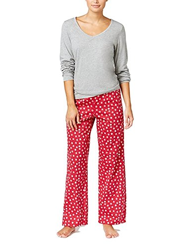 Charter Club Snowflake Printed Bottoms 2-Piece Pajama Set (XX-Large, ()