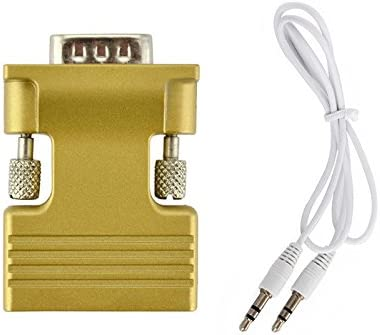 HDMI Female to VGA Male Converter+Audio Cable Support 1080P Signal Output lot XP