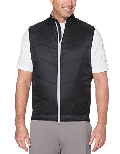 Callaway Men's Thermal Performance Quilted Golf Vest, Caviar, ()