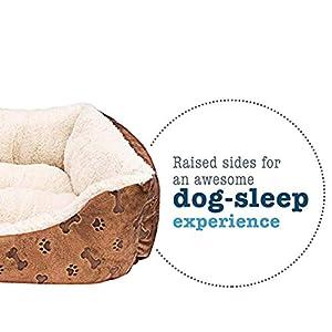 Animals-Favorite-Cama-Rectangular-para-Mascotas-con-Estampado-de-Huellas-de-Perro-Cama-de-Perro