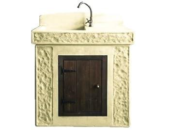 Fregadero fuente de granulado de piedra 45 x 85 x H102 cm. Peso 195 kg: Amazon.es: Jardín