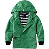Hiheart Boys Girls Waterproof Hooded Jackets Cotton Lined Rain Jackets