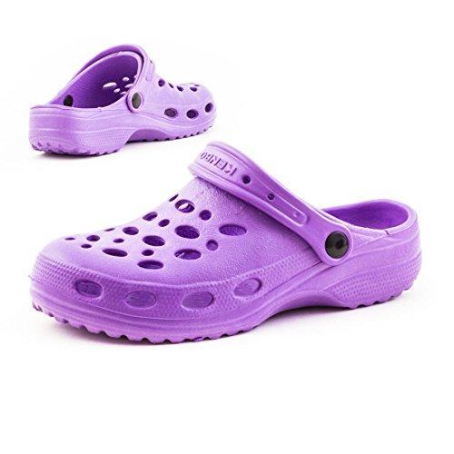 Kinder Trendige Aqua Herren Wasser Schuhe Lila Unisex Sommer Damen Garten Clogs FFqAET