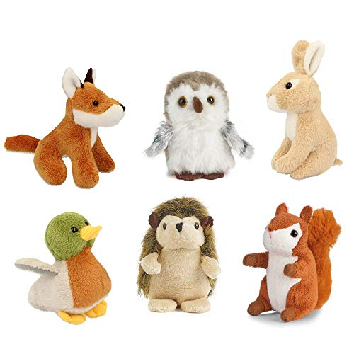 Animals Duck Plush Woodland - Mini Woodland Animal Soft Cuddly Toys - Suitable for all ages (0+) by Living Nature