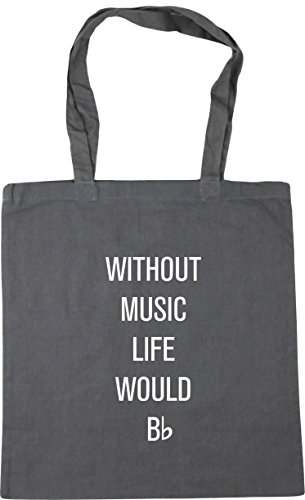 10 x38cm HippoWarehouse music would Beach litres Grey Bag Gym Shopping without Tote flat Graphite be 42cm life qTqAOR175