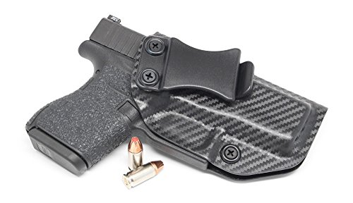 Concealment Express IWB KYDEX Holster: fits Glock 43 - Custom Fit - US Made - Inside Waistband - Adj. Cant/Retention (CF BLK, Right)