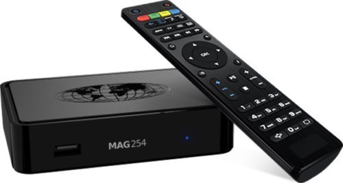 - MAG 254 IPTV BOX + REMOTE + HDMI CABLE + POWER ADAPTER + WIFI DONGLE