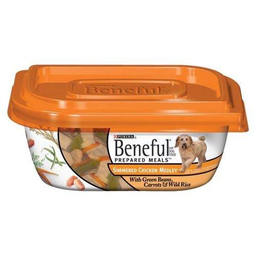 Beneful Dog Food Simmered Chicken Medley 10 OZ Pack of 16