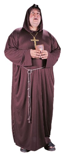 Plus Size Hooded Monk Robe Costumes (MONK PLUS SIZE)