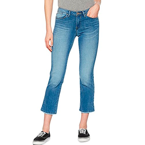 Only Sissi Jeans Recto Bajos Descosidos Azur