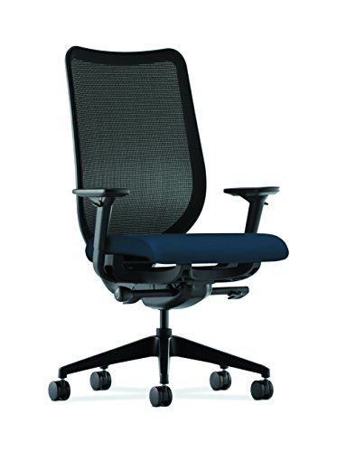 HON Nucleus Mesh Task Chair - Knit Mesh Back Computer Chair with Adjustable Arms, Navy (HN1) - Nucleus Series