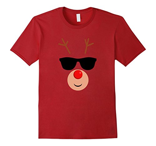 Mens Rudolph Emoji Funny Sunglasses Red Nosed Shirt Medium - Rudolph Sunglasses