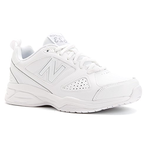 New Balance Women's WX623v3 White/Silver Sneaker 6 EE - Extra Wide by New Balance