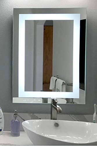 LED Front-Lighted Bathroom Vanity Mirror 32 Wide x 40 Tall – Commercial Grade – Rectangular – Wall-Mounted