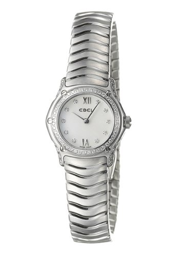 Ebel Classic Wave Watch (Ebel 9157F19-971025 Classic Wave White Mother-of-Pearl Dial Stainless Steel Women's Watch)