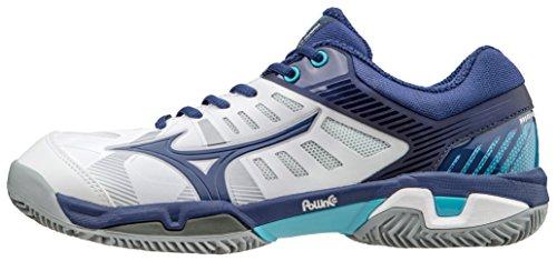 Mizuno Scarpa Tennis Unisex Wave Exceed Sl CC Bianco Blu