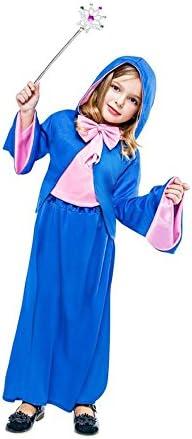 Disfraz de Hada Madrina azul para niña: Amazon.es: Juguetes y juegos