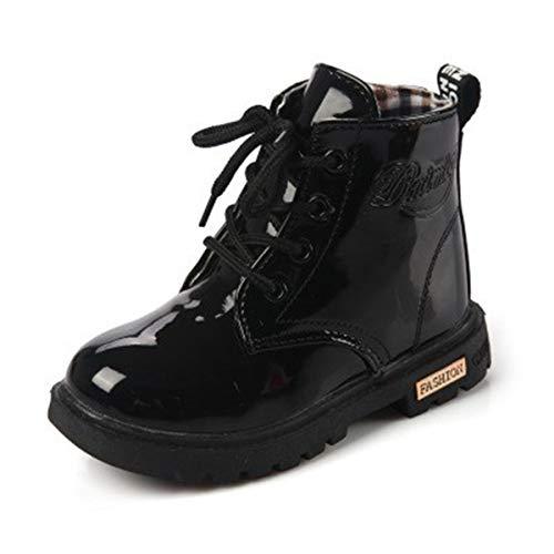 ENERCAKE Kids Boys Girls Waterproof Side Zipper Lace-Up Ankle Rain Martin Boots (Toddler/Little Kid)