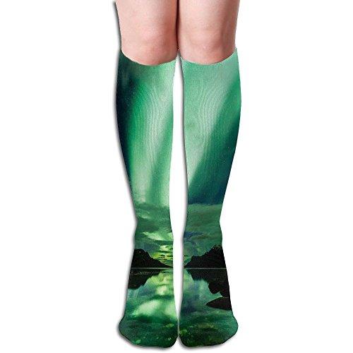 Unique Design Aurora Polaris Light Knee High Socks Knee Thigh High Socks For - Place Fashion Polaris