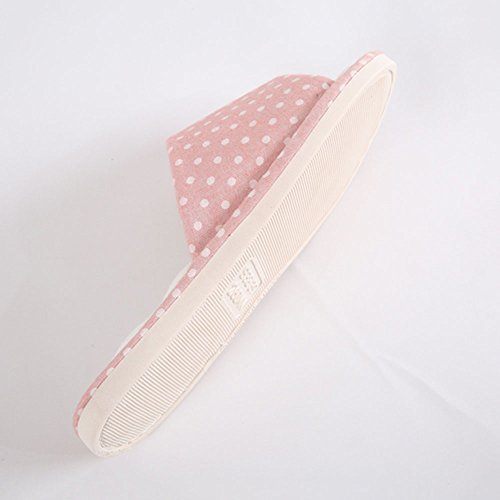 Slippers Slippers Pink Soft Linen 37 's ZHIRONG Comfortable Blue Size Slip Bottom Women Winter Color 37 36 Non 38 Indoor Cotton EqYfxf7R