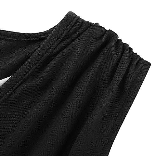 Vestido Grande De Mujer zolimx Cintura Vestidos Embarazada Maternidad Premamá Talla Vestidos Negro Túnica Alta Mini Chaleco Verano YgxTqPAtn
