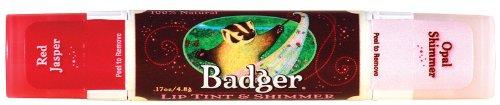 Badger Balm Lip Tint - Red Jasper - 0.17 oz