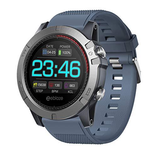Hunzed Sport Waterproof Smartwatch, Fitness Tracker with Heart Rate Blood Pressure,Blood Oxygen, Sleep Monitor,Message Call Reminder Smart Watch for Men Women Kids (Blue)