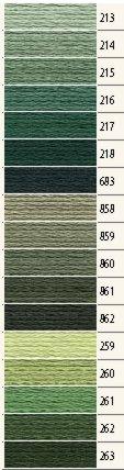 1x Anchor Sticktwist lodengr/ün Farbe 263