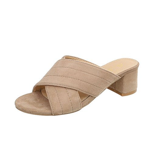 Chaussures Mules Kitten Ital Design Heel Beige Sandales Femme PwBxgYxq5