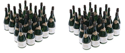 Nicky Bigs Novelties 48 Mini Champagne Bottles Wedding Bubbles New Years Eve Graduation Party Favors -