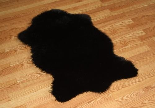 Faux Animal Skin Hide Rug 3' x 5' (BLACK) by Cottontail Faux Fur Collection